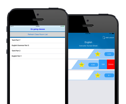 e-Learning App for iOS on Going Class Interface