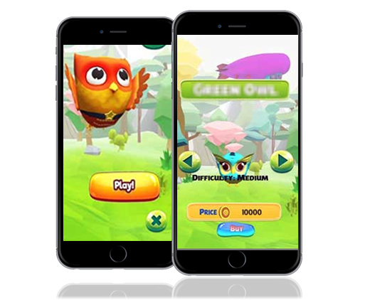 Interactive 3D Game App for Android & iOS Interface