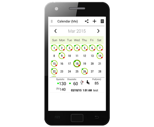 Mobile App Integrating Omron BP Monitor Calendar