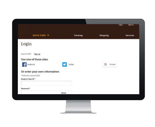 Web Portal Login Screen