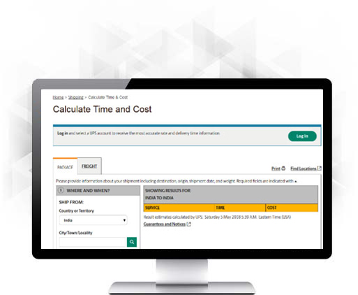 Web Portal Time & Cost Calculator