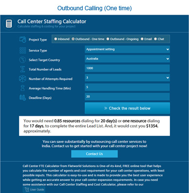 outbound calling staffing calculator