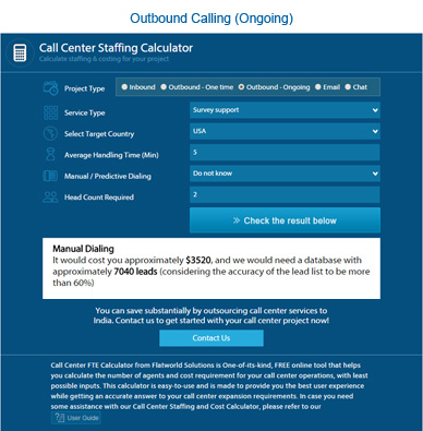 outbound calling FTE calculator