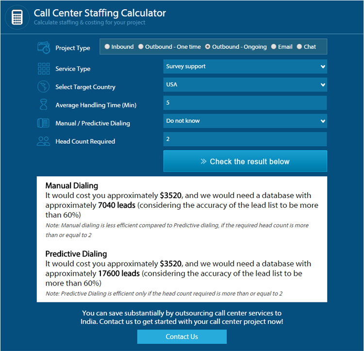 Call Center Staffing Calculator Guide Flatworld Solutions