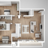 Top View 3D Floor Plan Creation Services