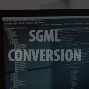 SGML Conversion Services