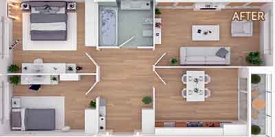 3D Floor Plan Conversion After