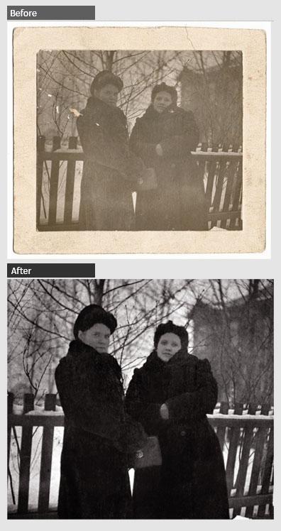 Black and White Portrait Enhancement