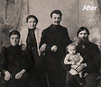 Photo Restoration using Photoshop After