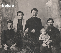 Photo Restoration using Photoshop Before