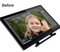 Photoshop Image Enhancement using Pen Tablet Before