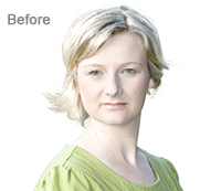 Portrait Photo Enhancement with Photoshop Before