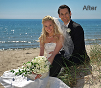 Wedding Photo Enhancement using Photoshop After