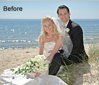 Wedding Photo Enhancement using Photoshop Before