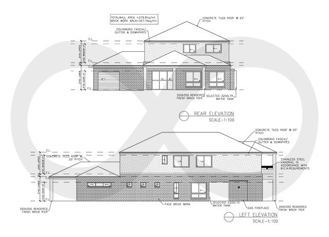 Sample Front Elevation Business : Outsource ga construction drawing services fws