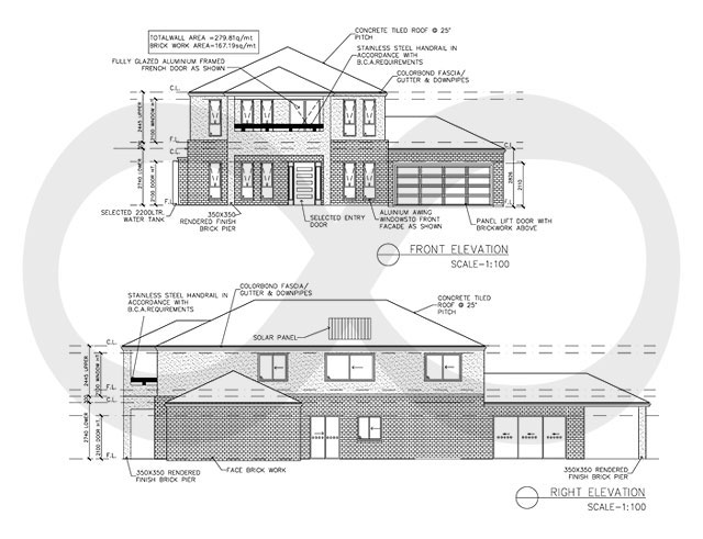 Sample Of Front Elevation : Civil engineering floor plan samples flatworld solutions