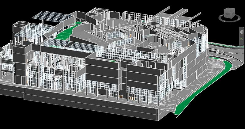 WIP model of a Commercial Space in Singapore - Architecture