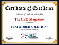 Flatworld Solutions Receives Certificate of Excellence from the CEO Magazine